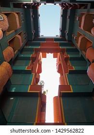Barcelona, Spain, April 2019: Walden 7, building by architect Ricardo Bofill
