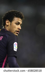 BARCELONA, SPAIN - APRIL, 29: Neymar Da Silva of FC Barcelona during a Spanish League match against RCD Espanyol at the RCDE Stadium on April 29 2017, in Barcelona Spain
