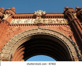 "Barcelona, Spain: the ""Arc de Triumf"""