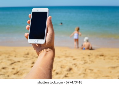 Iphone On Beach Images Stock Photos Vectors Shutterstock