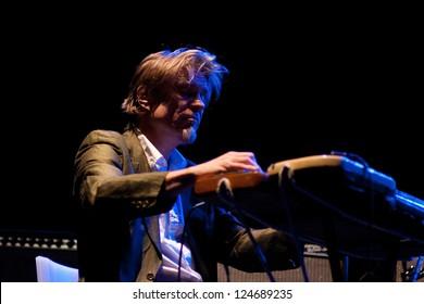 BARCELONA, SPAIN - DEC 6: Swans band performs at Sant Jordi Club on December 6, 2012 in Barcelona. Primavera Club Festival.