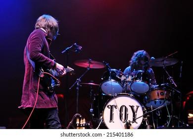 BARCELONA, SPAIN - DEC 8: Toy band performs at Sant Jordi Club on December 8, 2012 in Barcelona. Primavera Club Festival.