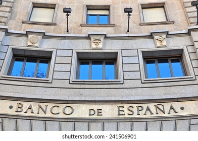 BARCELONA, SPAIN - DECEMBER 29: Bank of Spain office building in centre of Barcelona on December 29, 2014. Barcelona is the secord largest city of Spain.