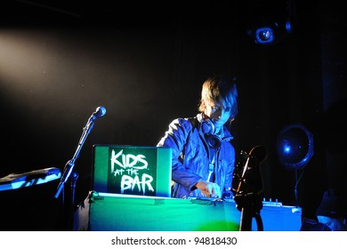 BARCELONA, SPAIN - FEB 09: Kids at the Bar DJ's performs at Apolo on February 09, 2012 in Barcelona, Spain.