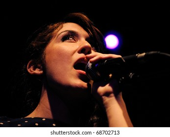 BARCELONA, SPAIN - FEB 19: Anni B. Sweet performs at Discotheque Apolo on February 19, 2010 in Barcelona, Spain.