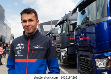 Barcelona, Spain. Feb 19th, 2019 - Alexander Albon of Thailand portrait with 23 Scuderia Toro Rosso at F1 Winter Test at Circuit de Catalunya.