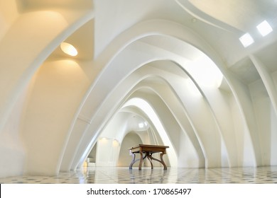 BARCELONA, SPAIN - FEB 2: View of the penthouse of the Batllo House, a renowned building located in the heart of Barcelona and one of Antoni Gaud�â��s masterpiece, on Febrary 2, 2013. Barcelona