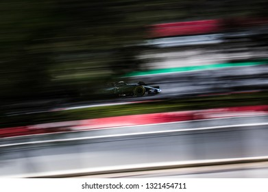 BARCELONA, SPAIN  FEBRUARY 19, 2019: Lewis Hamilton of Mercedes during Formula One Test days at Circuit of Barcelona-Catalunya.