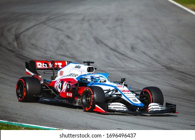 Barcelona, Spain - February 19-21, 2020: 06 LATIFI Nicholas (can), Williams Racing F1 FW43, on the track during Formula 1 testing at Barcelona circuit.n