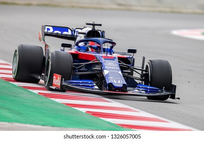 BARCELONA, SPAIN  FEBRUARY 20, 2019: X during Formula One Test days at Circuit of Barcelona-Catalunya.