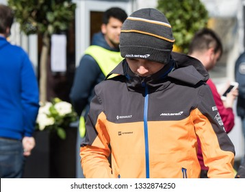 BARCELONA, SPAIN  FEBRUARY 26, 2019: Lando Norris during Formula One Test days at Circuit of Barcelona-Catalunya.