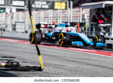 BARCELONA, SPAIN  FEBRUARY 27, 2019: Robert Kubica during Formula One Test days at Circuit of Barcelona-Catalunya.