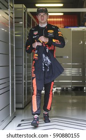 Barcelona, Spain. February 27  F1 test days for the season 2017. Max Verstappen, Red Bull.