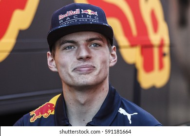 Barcelona, Spain. February 27  . F1 test days for the season 2017. Max Verstappen, driver Red Bull.