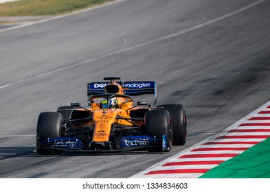 BARCELONA, SPAIN FEBRUARY 28, 2019: Lando Norris during Formula One Test days at Circuit of Barcelona-Catalunya.