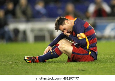 BARCELONA, SPAIN - JAN, 13: Leo Messi of FC Barcelona during a Spanish Kings Cup match against RCD Espanyol at the Power8 stadium on January 13, 2016 in Barcelona, Spain
