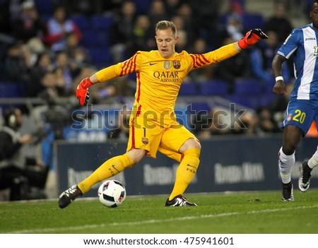 a3c264c8f BARCELONA, SPAIN - JAN, 13: Marc-Andre ter Stegen of FC Barcelona