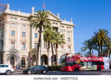 Barcelona, Spain - January 19, 2019: Military Government. Building of the military government (Gobierno Militar) in Barcelona, Spain