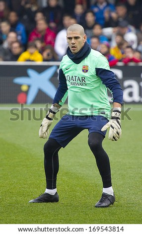 b7e2deafb23 BARCELONA SPAIN JANUARY 3 Victor Valdes Stock Photo (Edit Now ...