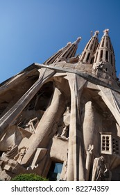 BARCELONA, SPAIN - JULY 07: La Sagrada Familia - the impressive cathedral designed by Gaudi, which is being build since 1882 and is not finished yet July 07, 2011 in Barcelona, Spain.