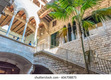 BARCELONA, SPAIN - JULY 24, 2016: Museu Picasso in Barcelona, Spain. Pablo Picasso was a Spanish painter, sculptor, printmaker, poet and playwright who spent most of his adult life in France.