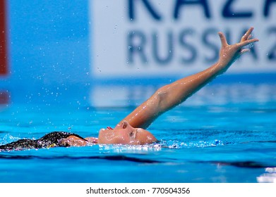 BARCELONA, SPAIN - JULY, 24: Chloe Isaac of Canada during a Solo Synchronised Swimming event of World Championship BCN2013 on July 24, 2013 in Barcelona Spain