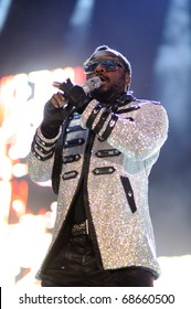 BARCELONA, SPAIN - JULY 7: William James (Will.i.am), of Black Eyed Peas, performs at Estadi Cornella-el Prat on July 7, 2010 in Barcelona, Spain.