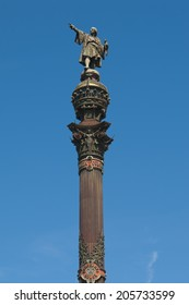 BARCELONA, SPAIN - JUN 19 , 2014: Monument to Christopher Columbus in Barcelona, Spain.