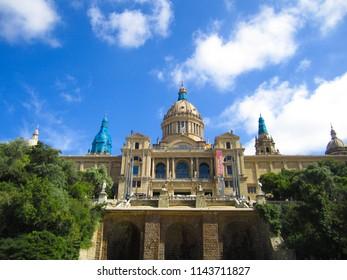 Barcelona, Spain - June 04, 2018: National Art Museum of Catalonia