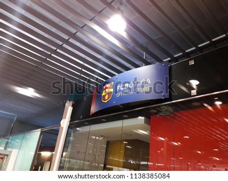 Barcelona Spain June 09 2018 FC Botiga Stock Photo (Edit Now ... 54d321d07e0