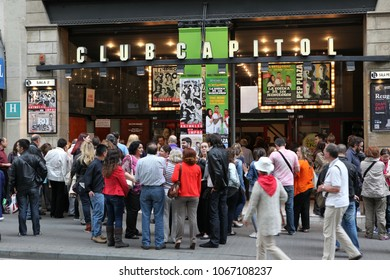 BARCELONA, SPAIN - JUNE 09: Club Capitol at La Rambla street on June, 2013 in Barcelona, Spain. The central street in cite most popular touristic site in Barcelona