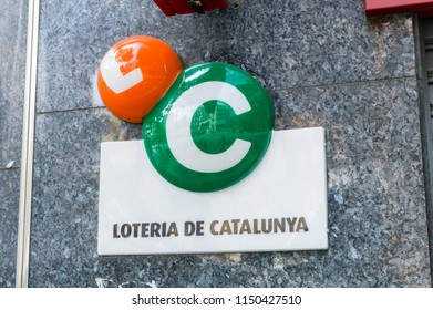 Barcelona, Spain - June 10, 2018: Logo and sign of Loteria de Catalunya.