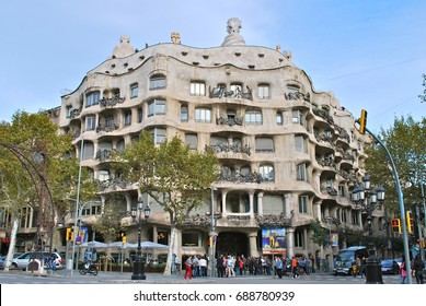 BARCELONA, SPAIN - JUNE 2: Barcelona is the capital city of the autonomous community of Catalonia, Spain, with a population of 1.6 million within city limits, in Barcelona, Spain, June 2, 2013.