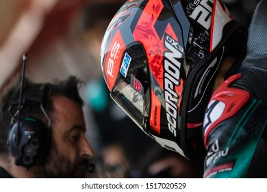BARCELONA - SPAIN, JUNI 14: French Yamaha rider Fabio Quartararo at 2019 Monster Energy MotoGP of Catalunya