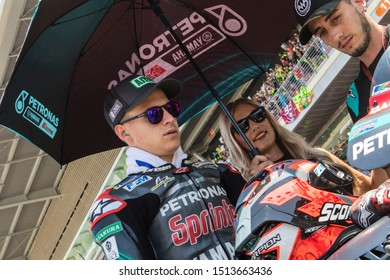 BARCELONA - SPAIN, JUNI 16: French Yamaha rider Fabio Quartararo at 2019 Monster Energy MotoGP of Catalunya