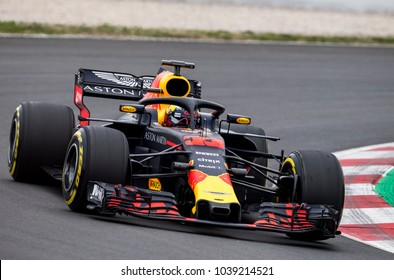 BARCELONA, SPAIN - MARCH 1, 2018: Max Verstappen during Formula One Test Days at Circuit of Barcelona Catalunya.