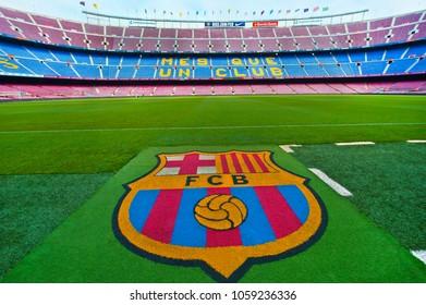 Barcelona, Spain- March 2015:  at Camp Nou arena