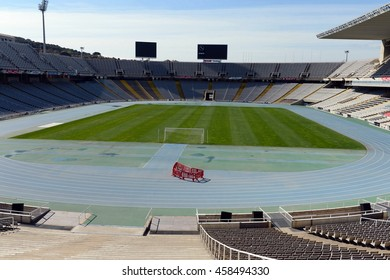 BARCELONA, SPAIN - MARCH 26, 2013:Olympic stadium  in Barcelona.