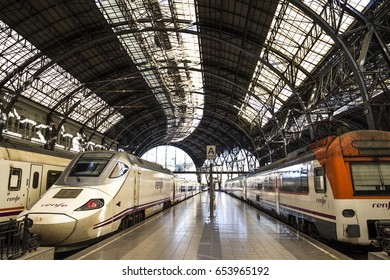 Barcelona, Spain - March 3, 2016: France Train Station (France Station) in Barcelona Catalonia Spain