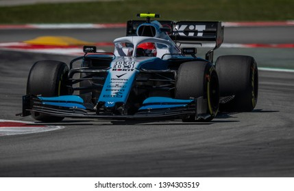BARCELONA, SPAIN - MAY 10, 2019: Robert Kubica, Poland competes for ROKiT Williams Racing in the Formula 1 Emirates Grand Premio de Espana. This is the final running of the Spanish Grand Prix.