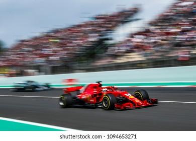 Barcelona, Spain. May 13, 2018. Grand Prix of Spain. F1 World Championship 2018. Sebastian Vettel, Ferrari.