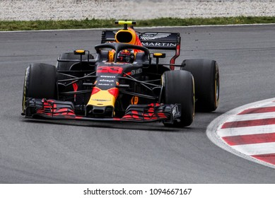 Barcelona, Spain. May 13, 2018. Grand Prix of Spain. F1 World Championship 2018. Max Verstappen, Red Bull.