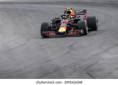 Barcelona, Spain. May 13, 2018. Grand Prix of Spain. F1 World Championship 2018. Max Verstappen, Red Bull.
