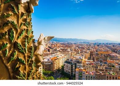 Barcelona, Spain - May 16, 2011: The Basilica i Temple Expiatori de la Sagrada Familia in Barcelona