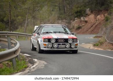 Barcelona, Spain; May 2, 2016: Audi Quatro in rally classics