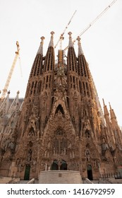 Barcelona, Spain - May 23, 2019: Cathedral of La Sagrada Familia. It is designed by architect Antonio Gaudi and is being build since 1882. - Image