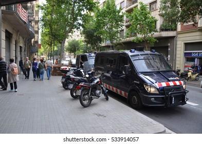 BARCELONA, SPAIN - MAY 25, 2016: City buildings in Barcelona