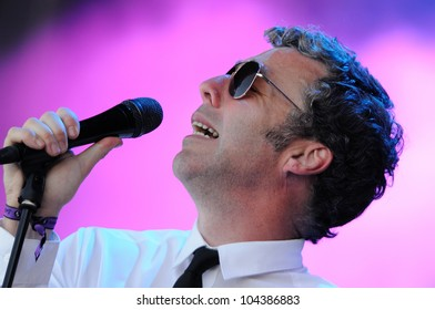 BARCELONA, SPAIN - MAY 31: Baxter Dury band performs at San Miguel Primavera Sound Festival on May 31, 2012 in Barcelona, Spain.