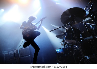 BARCELONA, SPAIN - MAY 31: Japandroids band performs at San Miguel Primavera Sound Festival on May 31, 2012 in Barcelona, Spain.