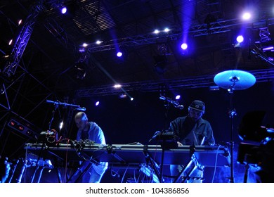 BARCELONA, SPAIN - MAY 31: John Talabot band performs at San Miguel Primavera Sound Festival on May 31, 2012 in Barcelona, Spain.
